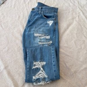 Current/Elliot The Fling Distressed Jeans